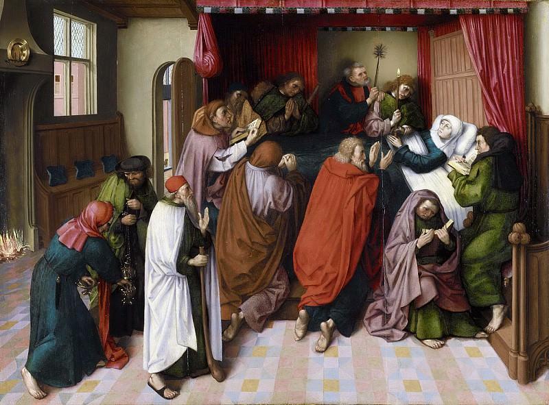 Meester van de Amsterdamse Dood van Maria -- Het sterfbed van Maria, 1500. Rijksmuseum: part 4