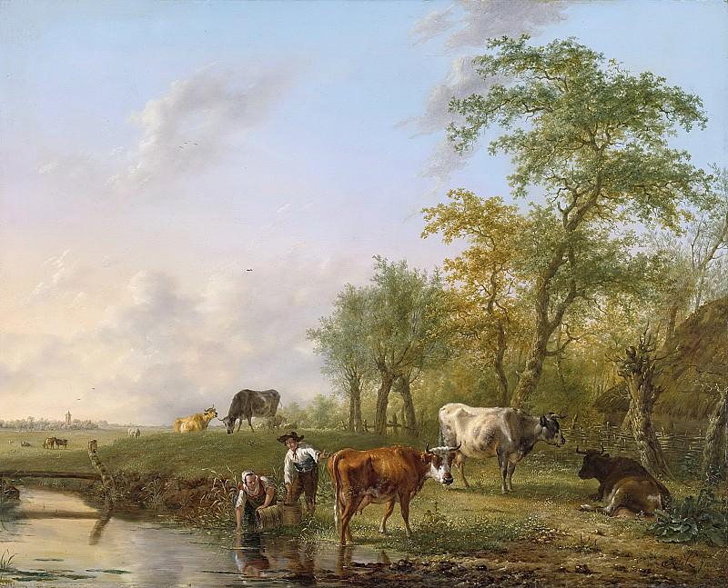 Kobell, Jan (II) -- Landschap met vee, 1804. Rijksmuseum: part 4