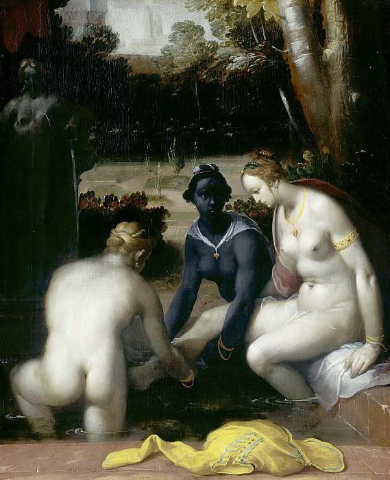 Cornelisz. van Haarlem, Cornelis -- Het toilet van Bathseba, 1594. Rijksmuseum: part 4