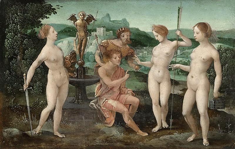 Meester van de Vrouwelijke Halffiguren -- Het oordeel van Paris, 1532. Rijksmuseum: part 4