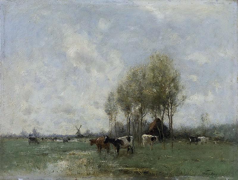 Виллем Марис -- Коровы на лугу, 1880-1910. Рейксмузеум: часть 4