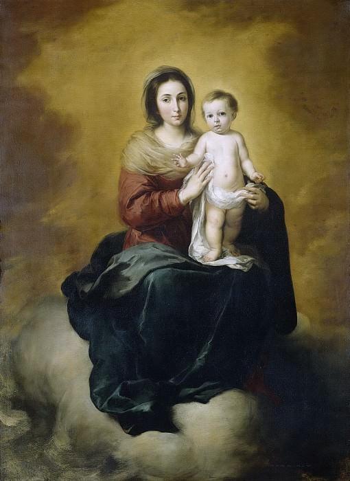 Murillo, Bartolomé Esteban -- Maria met kind, 1660-1680. Rijksmuseum: part 4