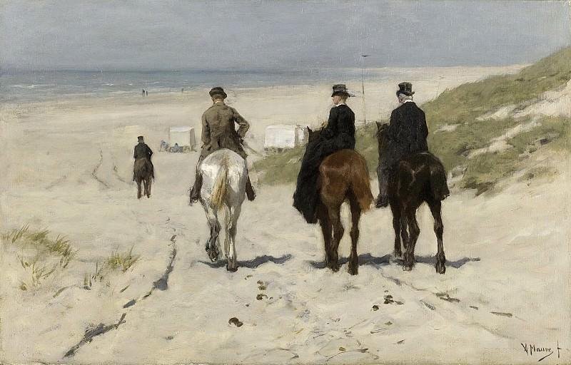 Mauve, Anton -- Morgenrit langs het strand, 1876. Rijksmuseum: part 4