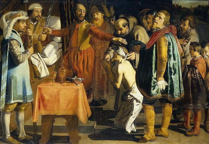Henrixz, Simon -- Willem III, graaf van Holland, geeft opdracht de baljuw van Zuid-Holland te onthoofden, 1336, 1620-1649. Rijksmuseum: part 4