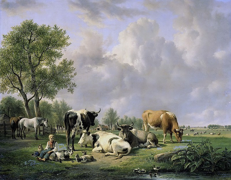 Ravenswaay, Jan van -- Weide met vee, 1820-1837. Rijksmuseum: part 4
