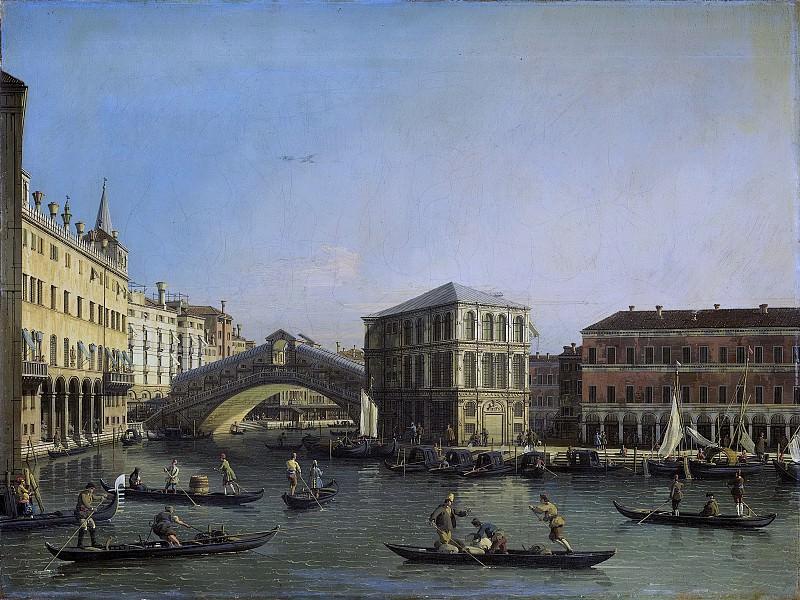 Canaletto -- Het Canal Grande met de Ponte Rialto en de Fondaco dei Tedeschi, 1707-1750. Rijksmuseum: part 4