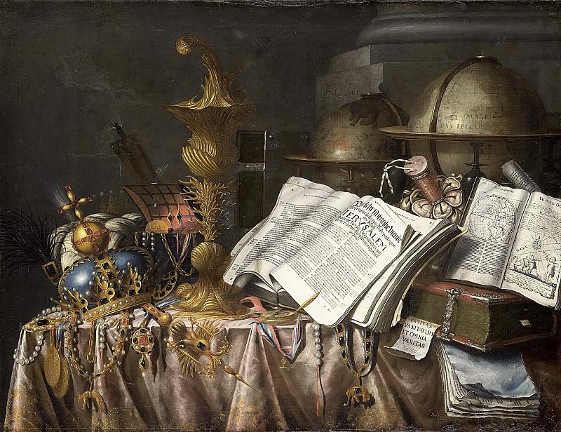 Collier, Edwaert -- Vanitas stilleven, 1662. Rijksmuseum: part 4