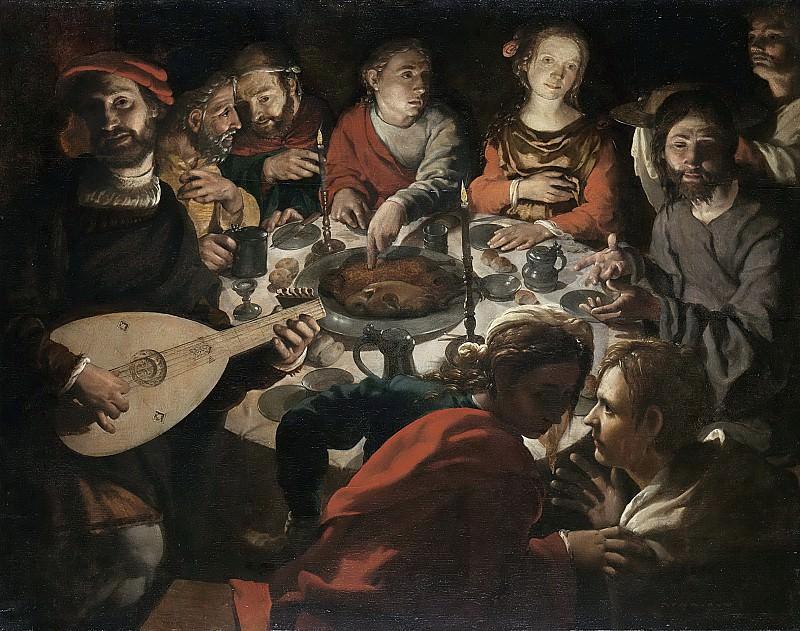 Ян Корнелис Вермейен -- Призвание Св. Иоанна во время свадьбы в Кане Галилейской, 1530-1532. Рейксмузеум: часть 4