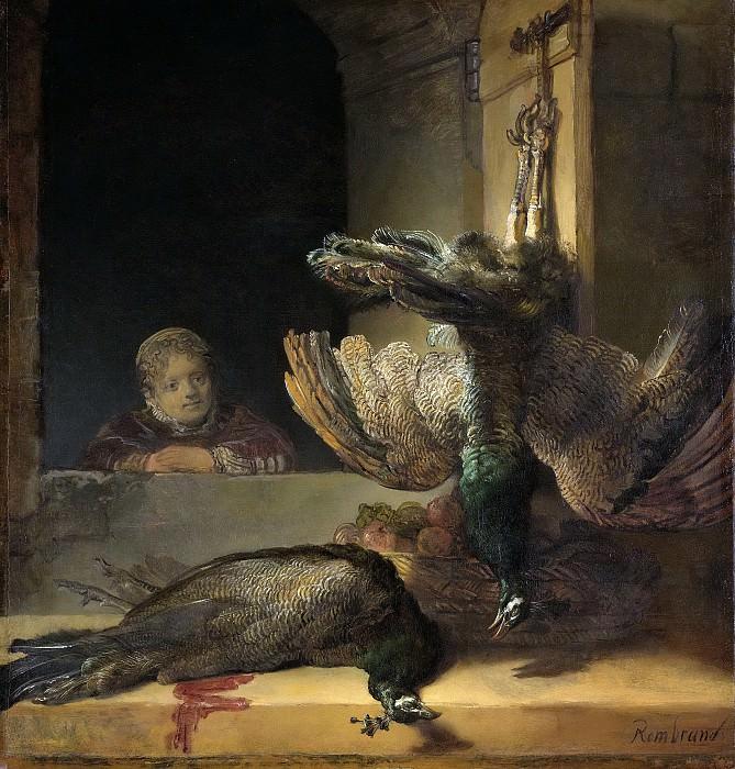 Rembrandt Harmensz. van Rijn -- Stilleven met pauwen, 1638-1640. Rijksmuseum: part 4