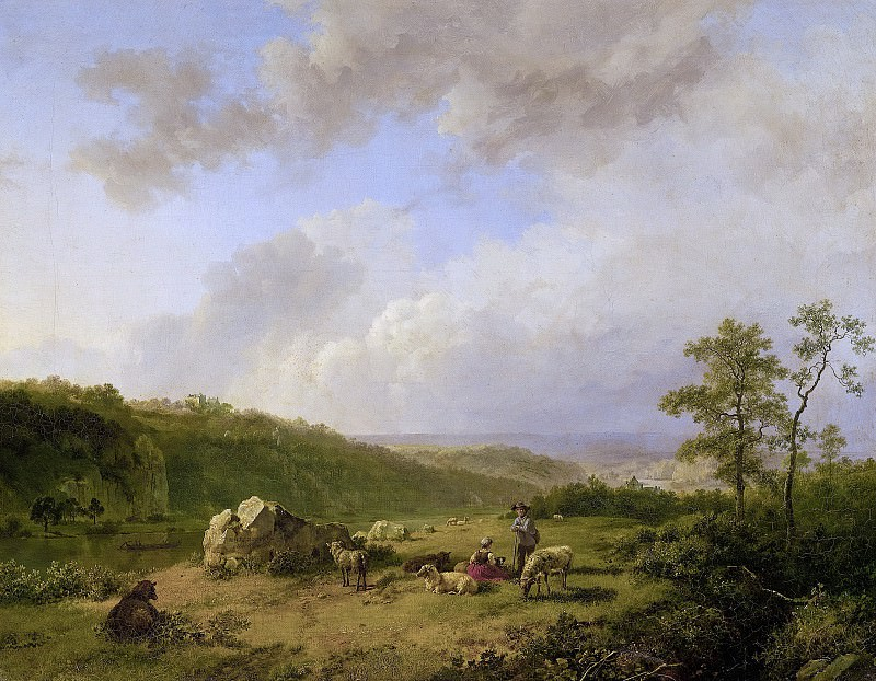 Koekkoek, Barend Cornelis -- Landschap bij opkomende regenbui, 1825-1829. Rijksmuseum: part 4