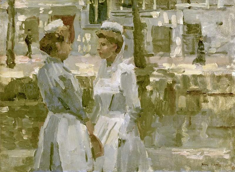 Исаак Исраэлс -- Амстердамские военнообязанные девушки, 1890-1900. Рейксмузеум: часть 4
