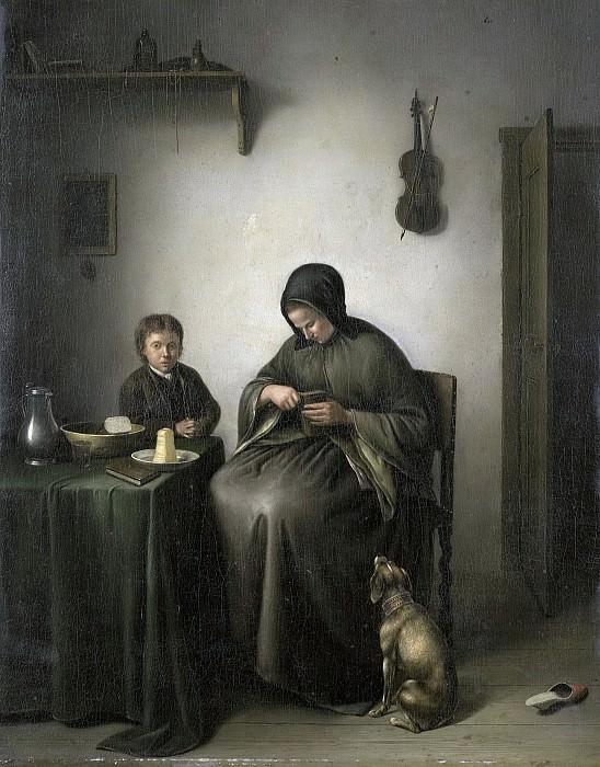 Janson, Johannes Christiaan -- Een vrouw die brood snijdt, 1800-1823. Rijksmuseum: part 4