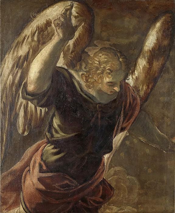 Tintoretto, Jacopo -- De verkondiging aan Maria; de engel, 1560-1585. Rijksmuseum: part 4