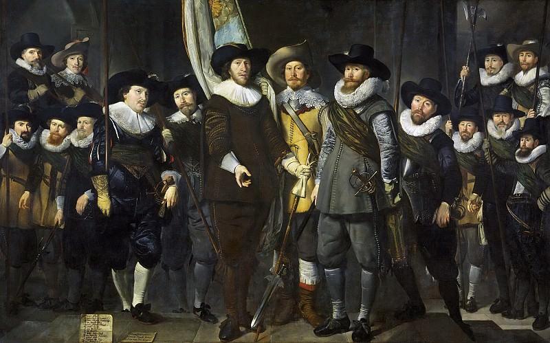 Томас де Кейсер -- Офицеры и рядовые стрелки стражи квартала III Амстердама под началом капитана Аларта Клука и лейтенанта Лукаса Якобса Ротганса, 1632. Рейксмузеум: часть 4