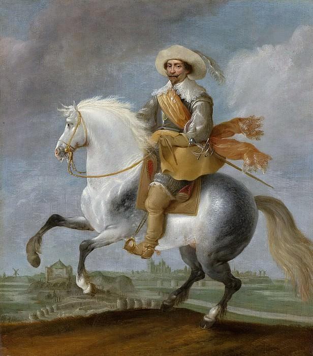 Паувельс ван Хиллегарт -- Принц Фредерик Хендрик верхом перед крепостью Хертогенбоса, 1632-1635. Рейксмузеум: часть 4