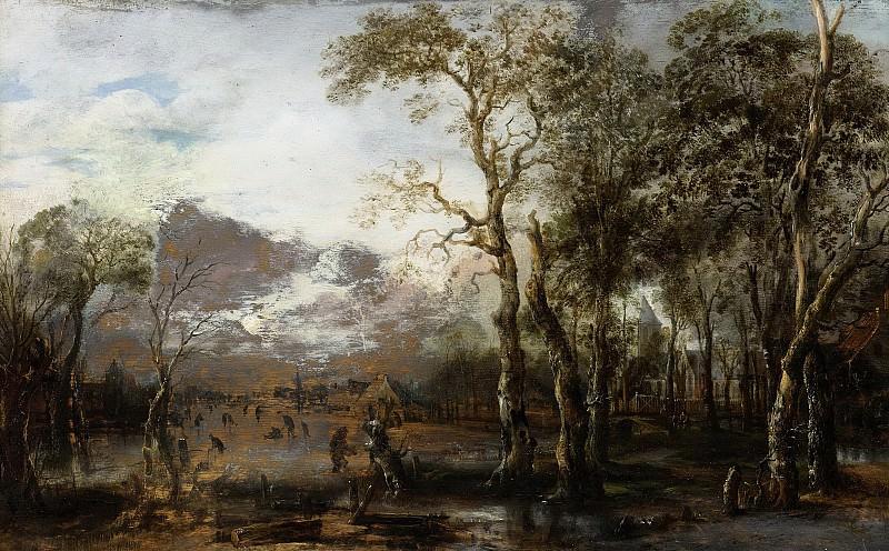 Neer, Aert van der -- Landschap met jager, 1625-1640. Rijksmuseum: part 4