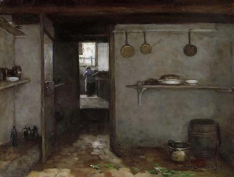 Weissenbruch, Johan Hendrik -- Doorkijkje in het onderhuis van Weissenbruchs woning in Den Haag, 1888. Rijksmuseum: part 4