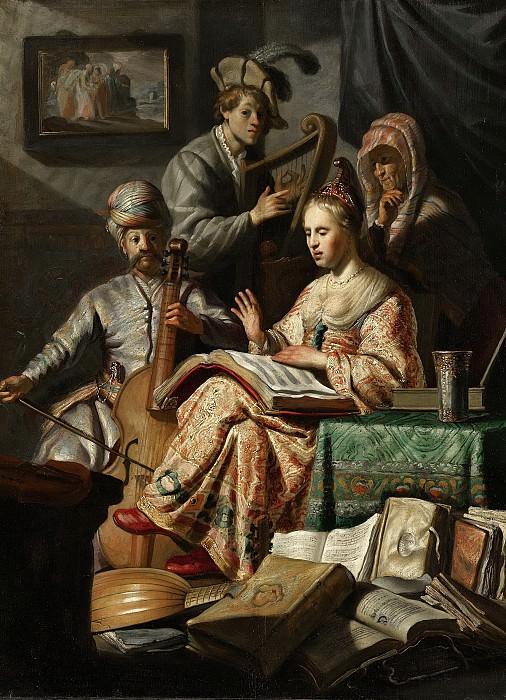 Rembrandt Harmensz. van Rijn -- Allegorisch musicerend gezelschap, 1626. Rijksmuseum: part 4