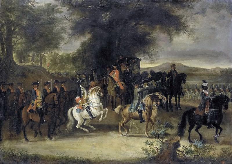 Troost, Cornelis -- Inspectie van een regiment cavalerie, wellicht door Willem van Hessen-Homburg, 1742. Rijksmuseum: part 4