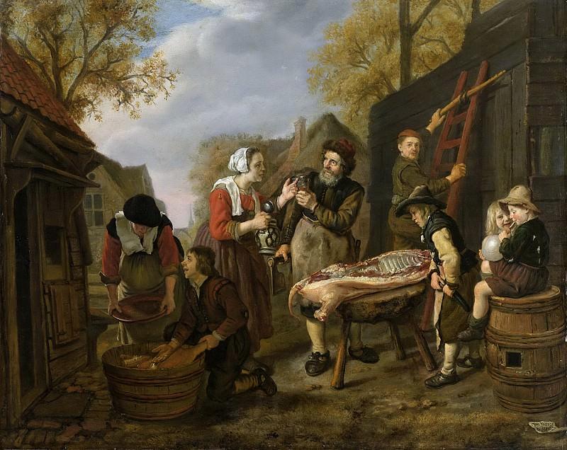 Victors, Jan -- De varkensslachter, 1648. Rijksmuseum: part 4