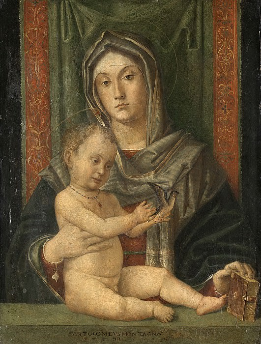Бартоломео Монтанья -- Мария с Младенцем, 1490-1510. Рейксмузеум: часть 4