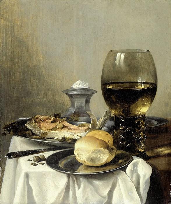 Питер Клас -- Натюрморт с солонкой, 1640-45. Рейксмузеум: часть 4