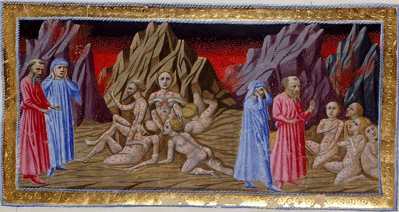 053 Eighth Circle - Dante and Virgil encountering the counterfeiters and forgers. Divina Commedia