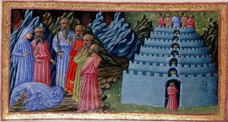007 Virgil introducing Dante to the poets of antiquity, Homer, Horace, Ovid and Lucan. Divina Commedia