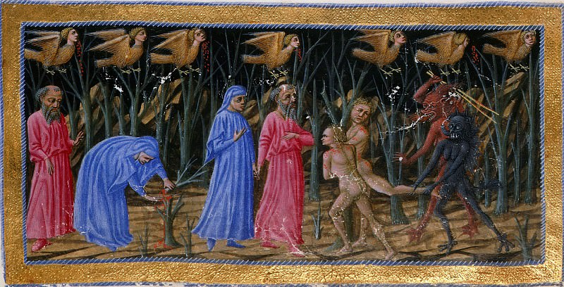 023 The seventh circle - The wood of the suicide. Divina Commedia