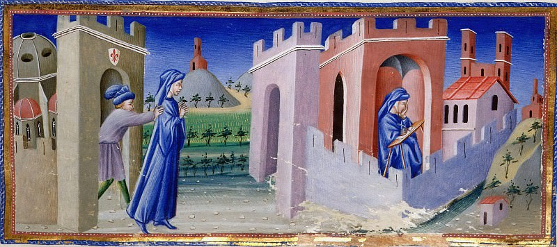 159 Dante being expelled from Florence, and of Dante composing his poem in exile. Divina Commedia