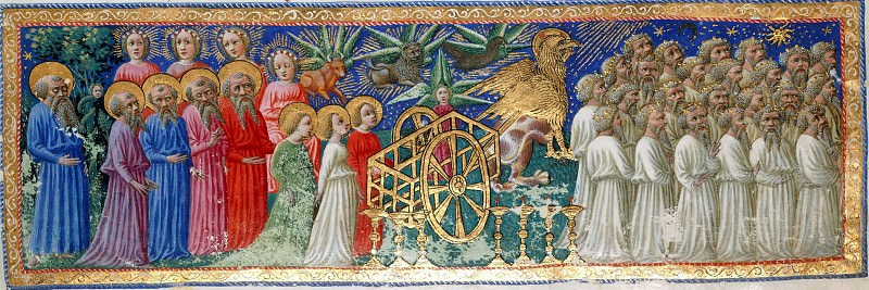 119 The Earthly Paradise - Dante and Virgil with others in the heavenly Procession. Divina Commedia
