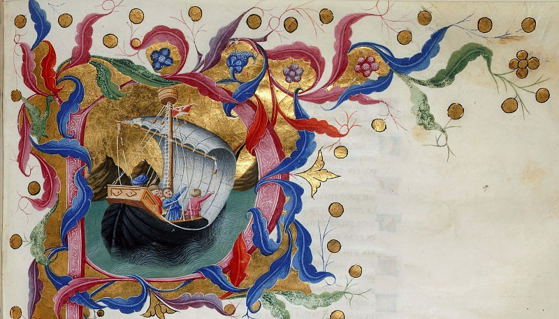 065 Dante setting sail for Purgatory. Divina Commedia