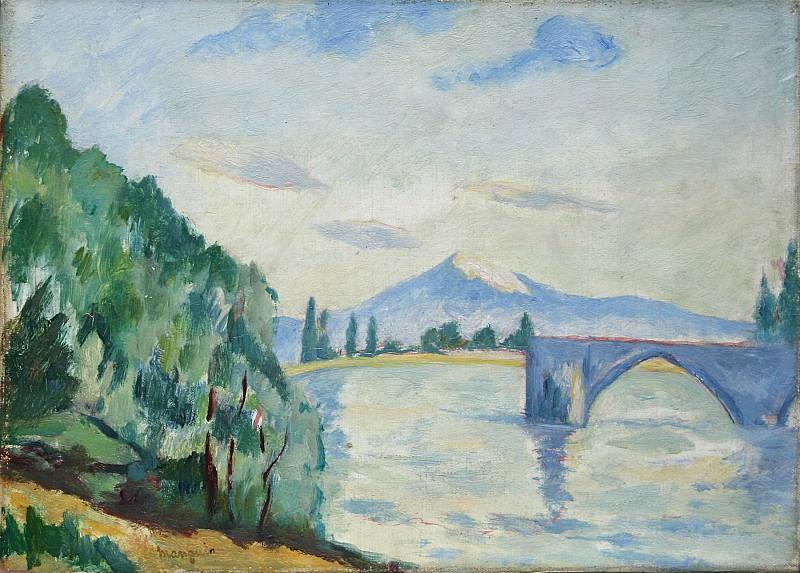 Henri MANGUIN Le mont Ventoux et le pont Saint BГ©nГ©zet 90699 3449. часть 2 - европейского искусства Европейская живопись
