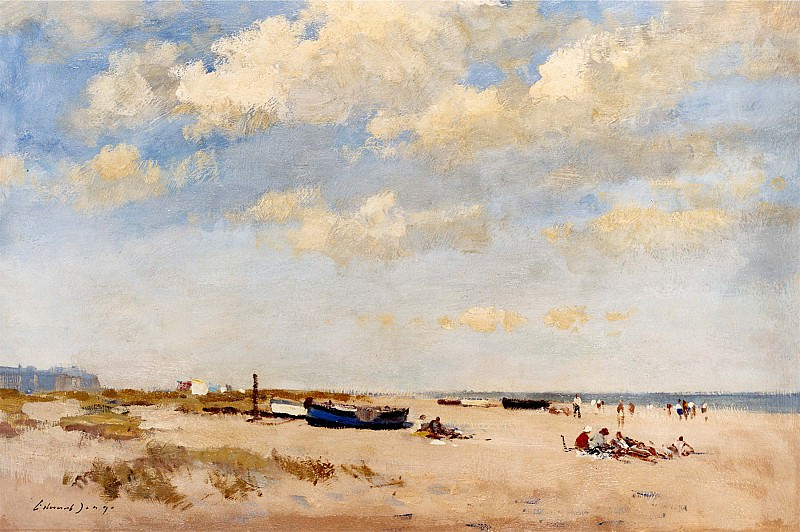 Edward Seago On the Beach Great Yarmouth 12254 2426. часть 2 -- European art Европейская живопись