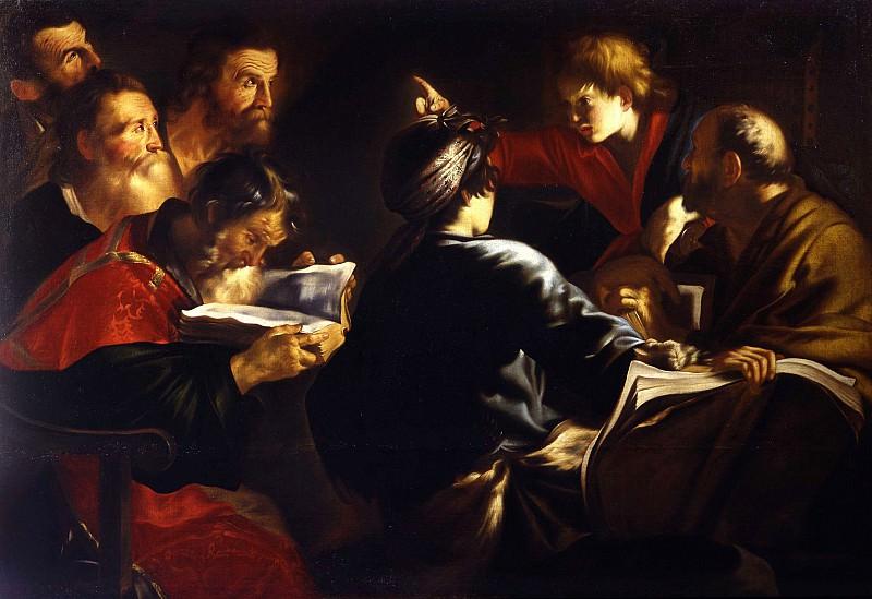 Giovanni Serodine 1594 or Rome 1600 Rome 1630 Jesus among the Doctors 17807 203. часть 2 - европейского искусства Европейская живопись