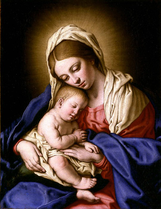 Giovanni Battista Salvi il Sassoferrato Madonna and Child. часть 2 -- European art Европейская живопись