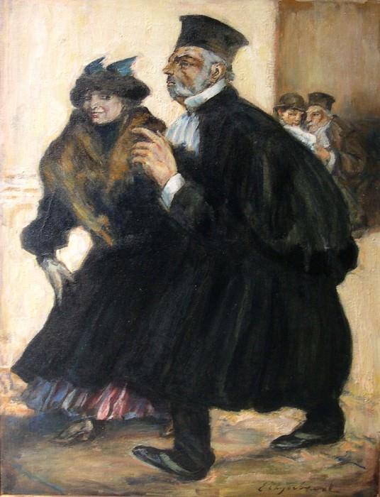 Emile THYSEBAERT The lawyer 78959 617. часть 2 -- European art Европейская живопись