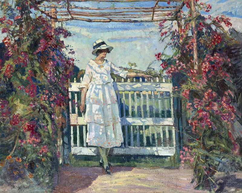 Edgard WIETHASE Young woman in the rose garden 38557 617. часть 2 -- European art Европейская живопись