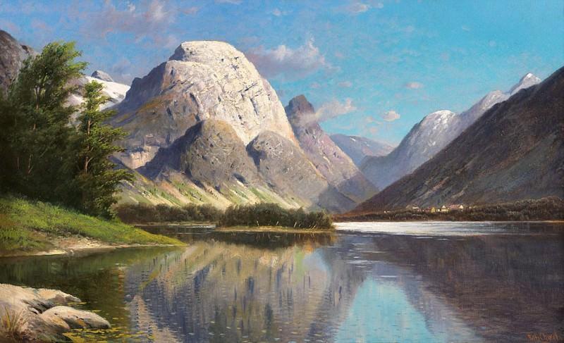 Fritz CHWALA Mountain Landscape 90022 121. часть 2 -- European art Европейская живопись