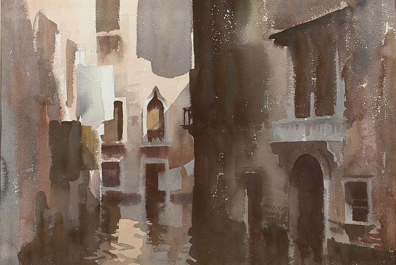 Edward Seago The Shadowed Canal Venice 28600 20. часть 2 - европейского искусства Европейская живопись