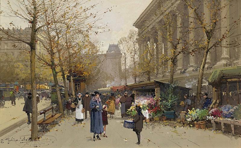 Гальен Лалу, Эжен - Цветочный рынок Мадлен. часть 2 - европейского искусства Европейская живопись