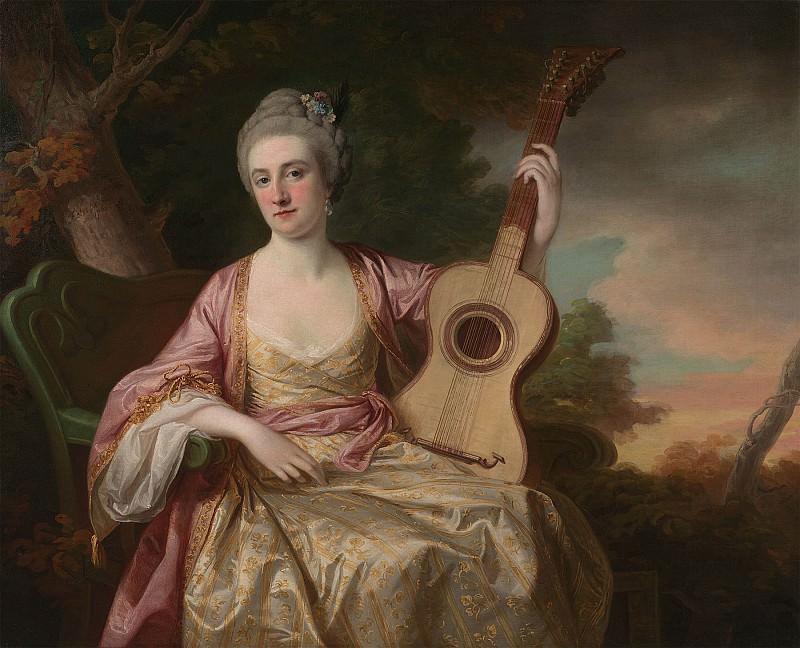 Francis Cotes Portrait of Maria WalpoleCountess of Waldegrave and later Duchess of Gloucester 98039 20. часть 2 -- European art Европейская живопись (1736 1807)