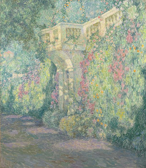 Henri Le Sidaner La balustrade la porte de la terrasse 99339 20. часть 2 -- European art Европейская живопись