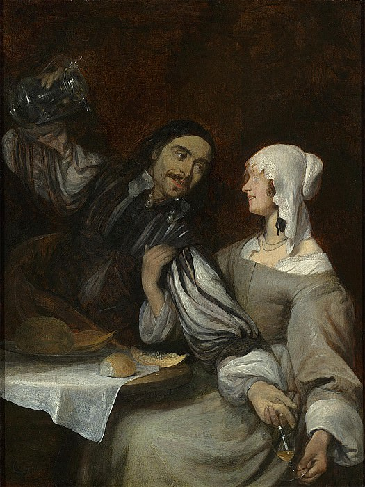 Gerard Terborch The Pressing invitation to drink. часть 2 -- European art Европейская живопись