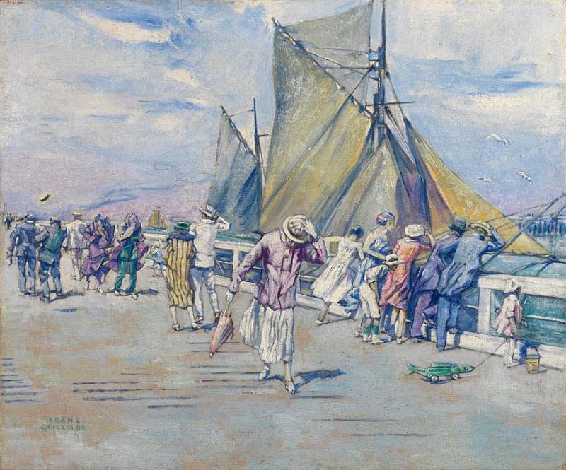 GAILLIARD Franz Brussels 1861 1932 The Pier in Ostend 18141 121. часть 2 -- European art Европейская живопись