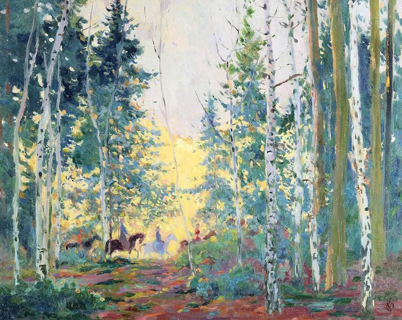 Edmond VERSTRAETEN Riders in the Forest 32123 617. часть 2 -- European art Европейская живопись