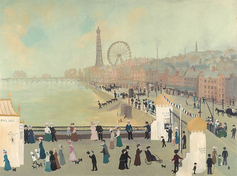 Helen Bradley Our First Morning in Blackpool 97899 20. часть 2 -- European art Европейская живопись