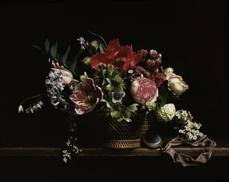 Guido Mocafico Corbeille de Fleurs 89545 172. часть 2 - европейского искусства Европейская живопись