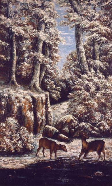 GUSTAVE COURBET Paysage de neige avec chevreuils. часть 2 -- European art Европейская живопись