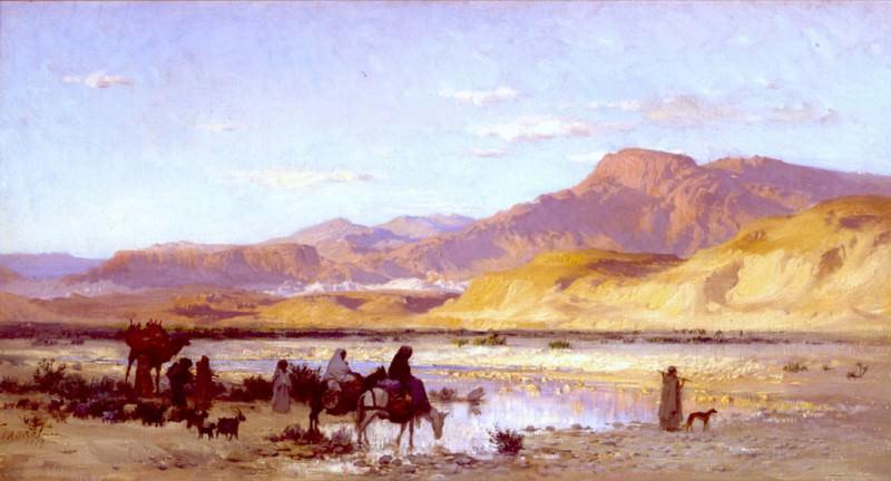 Frederick Arthur Bridgman On the way to Biskra 31266 3606. часть 2 -- European art Европейская живопись